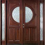 Modern Wooden Double Front Doors Design
