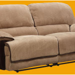 Neutral Brown Double Reclining Sofa Design
