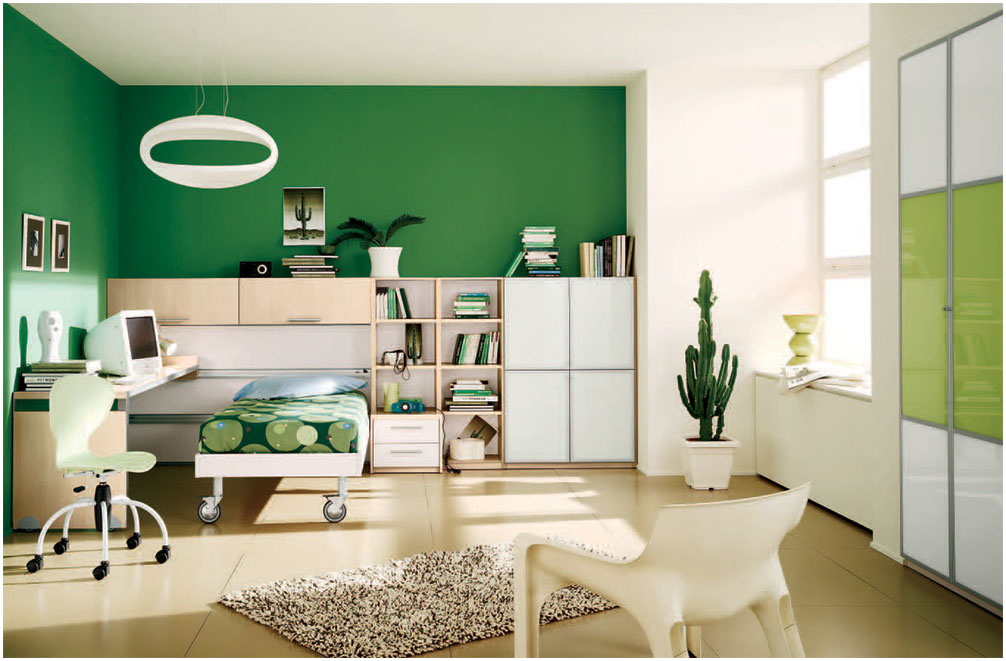 Planning a Home Décor with Green Wall for Room
