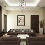 Remarkable Brown Interior Design Idea For Living Room