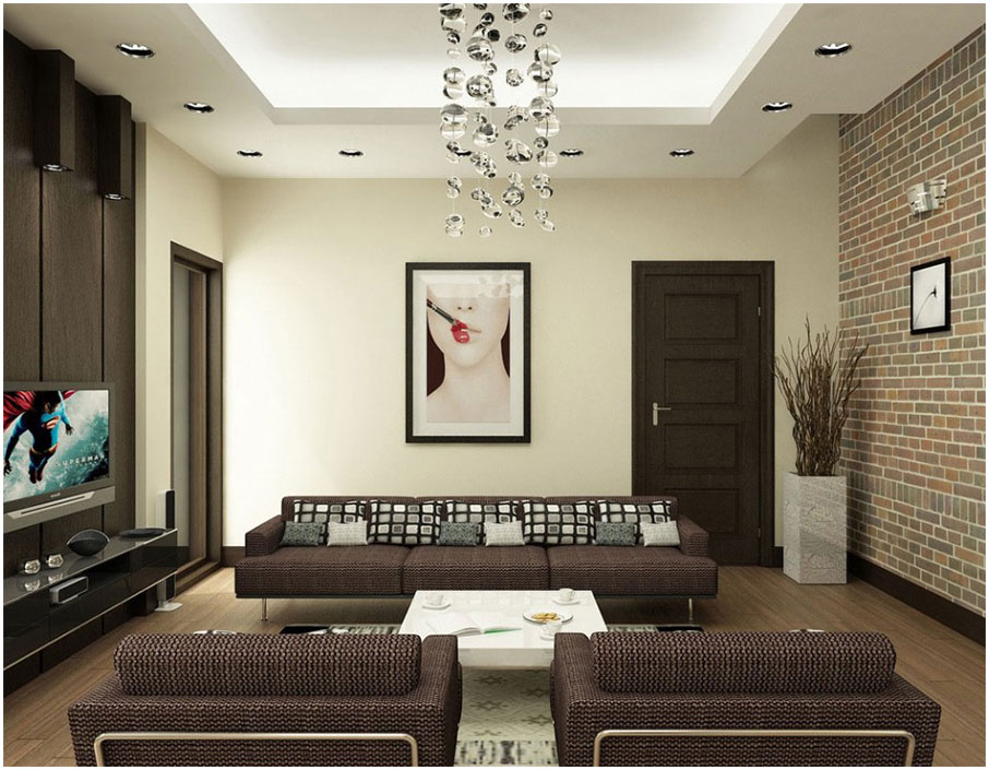 Remarkable Brown Interior Design Idea For Living Room