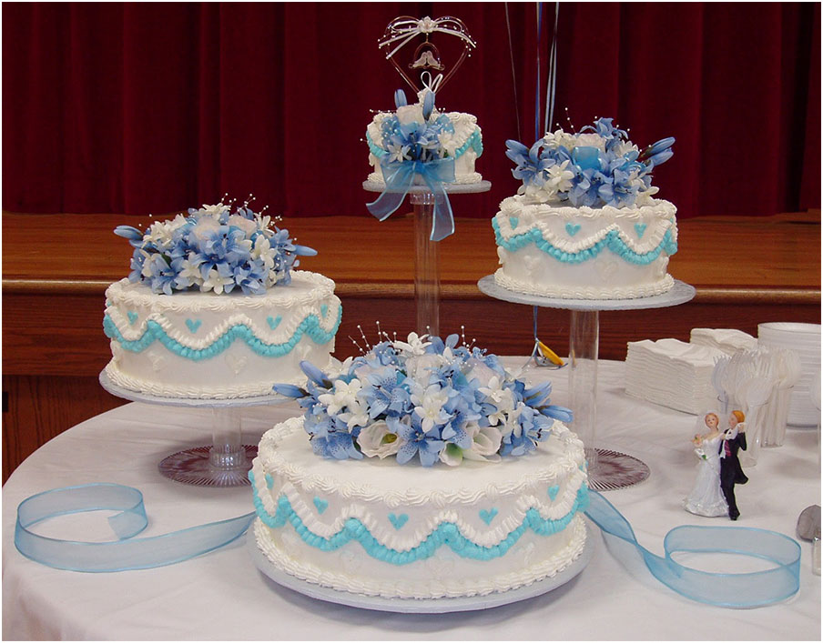 Wonderful 4 Tier Wedding Cake Stands Ideas