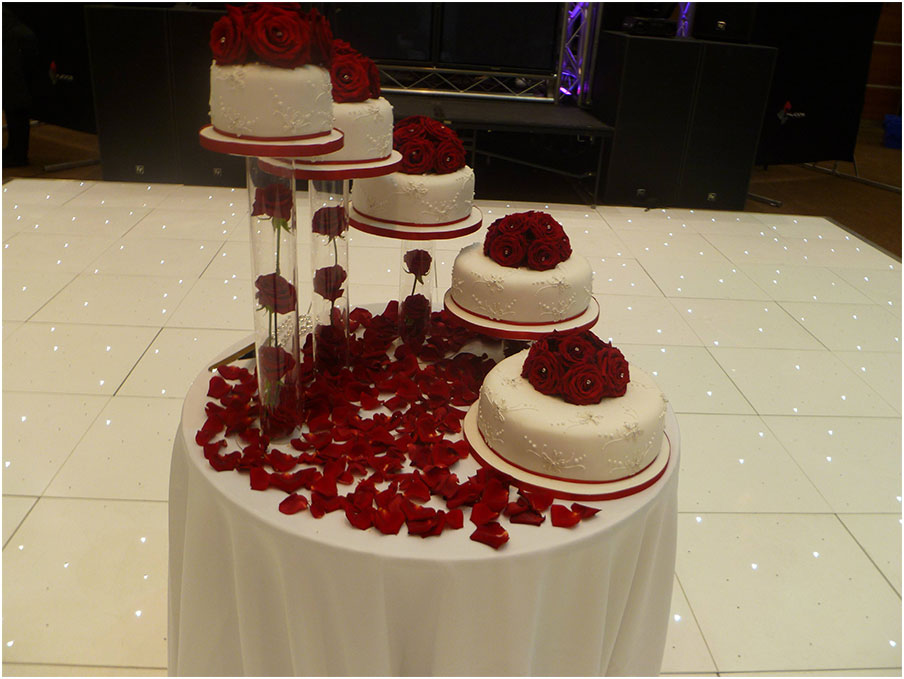 Wonderful 5 Tier Wedding Cake Stands Design