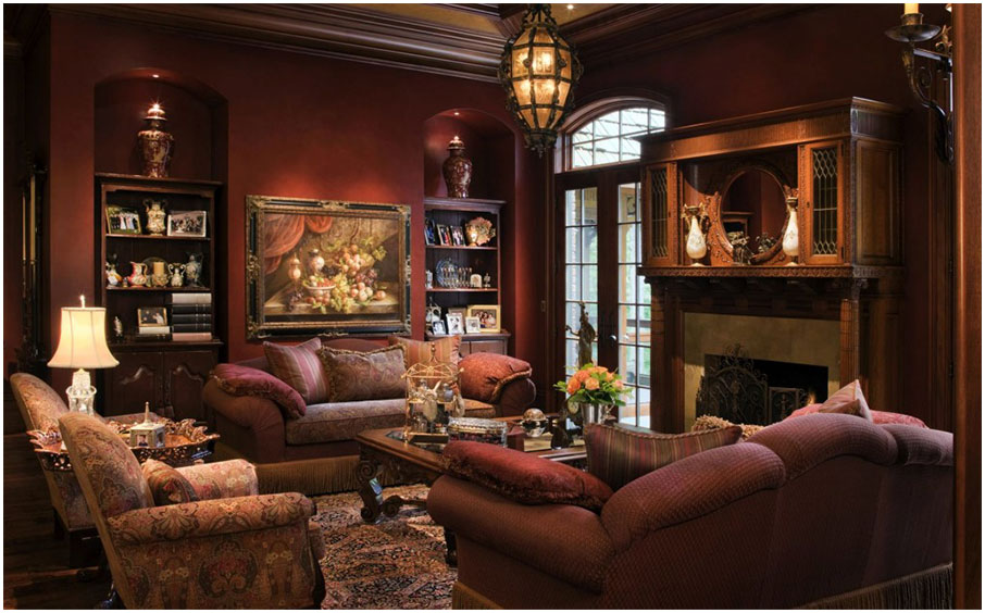 Wonderful Brown Decor For Living Room