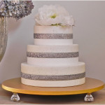 Wonderful Wedding Cake Stand Bling Gold Metallic
