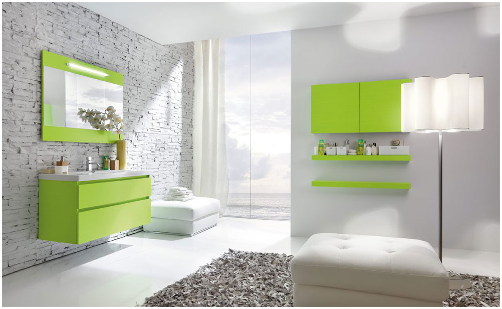 Charming Bathroom Ideas With Green Furniture