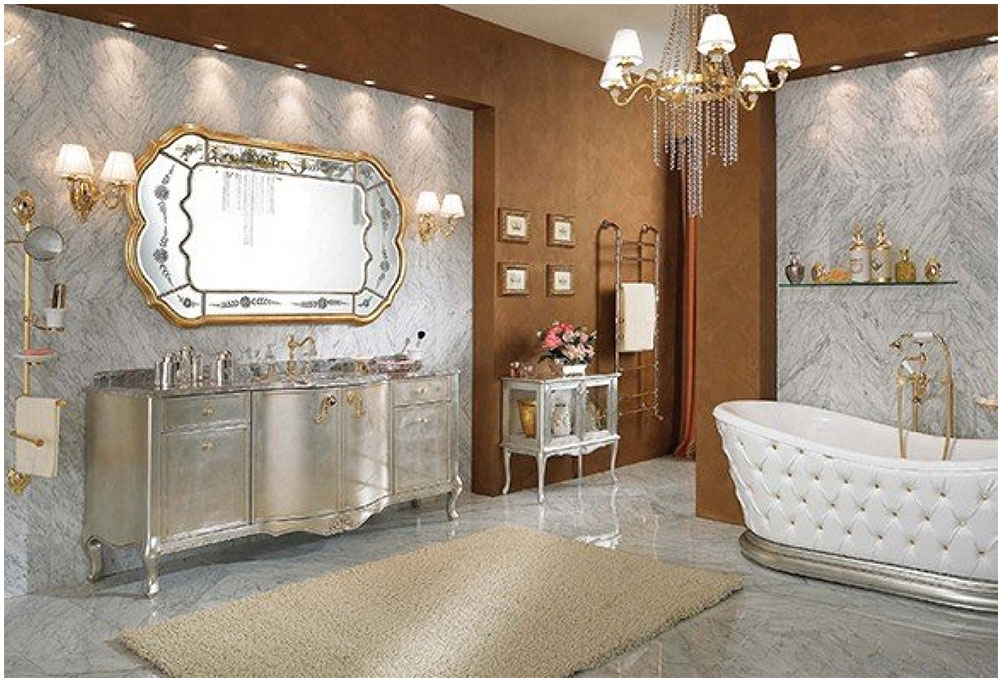 Charming Bathroom With Traditional Furniture
