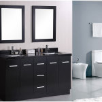 Charming Modern Bathroom Cabinets With Minimalist Mirror