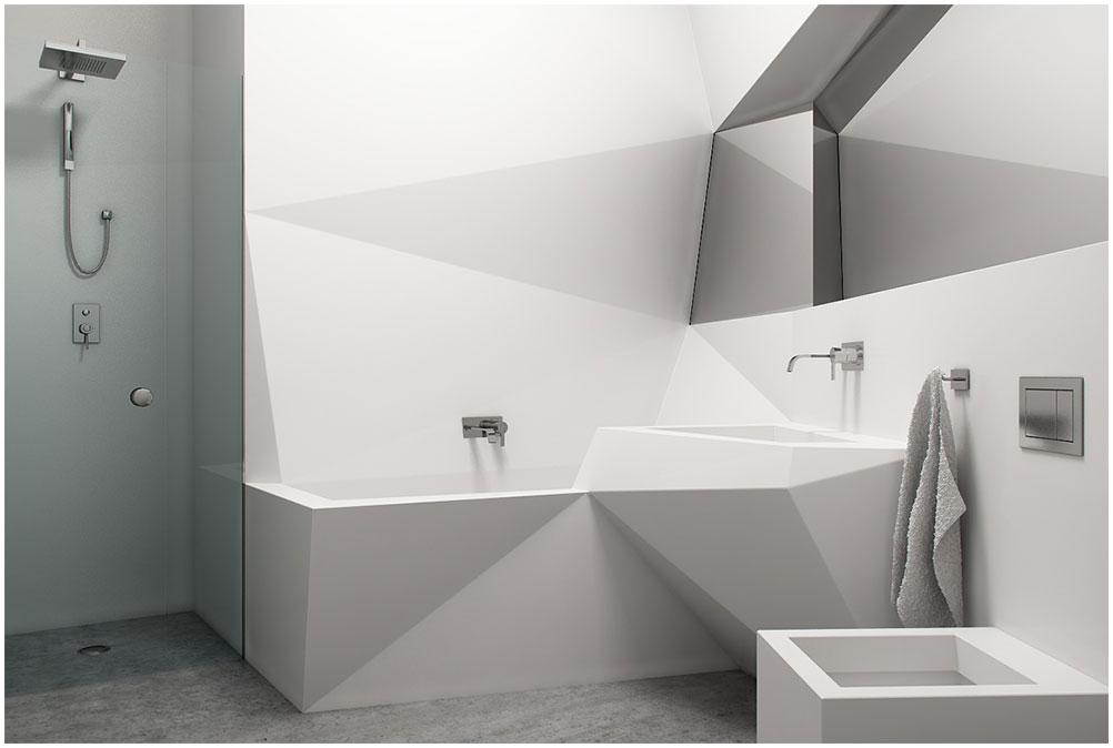 Comfortable Futuristic Bathroom Design Ideas