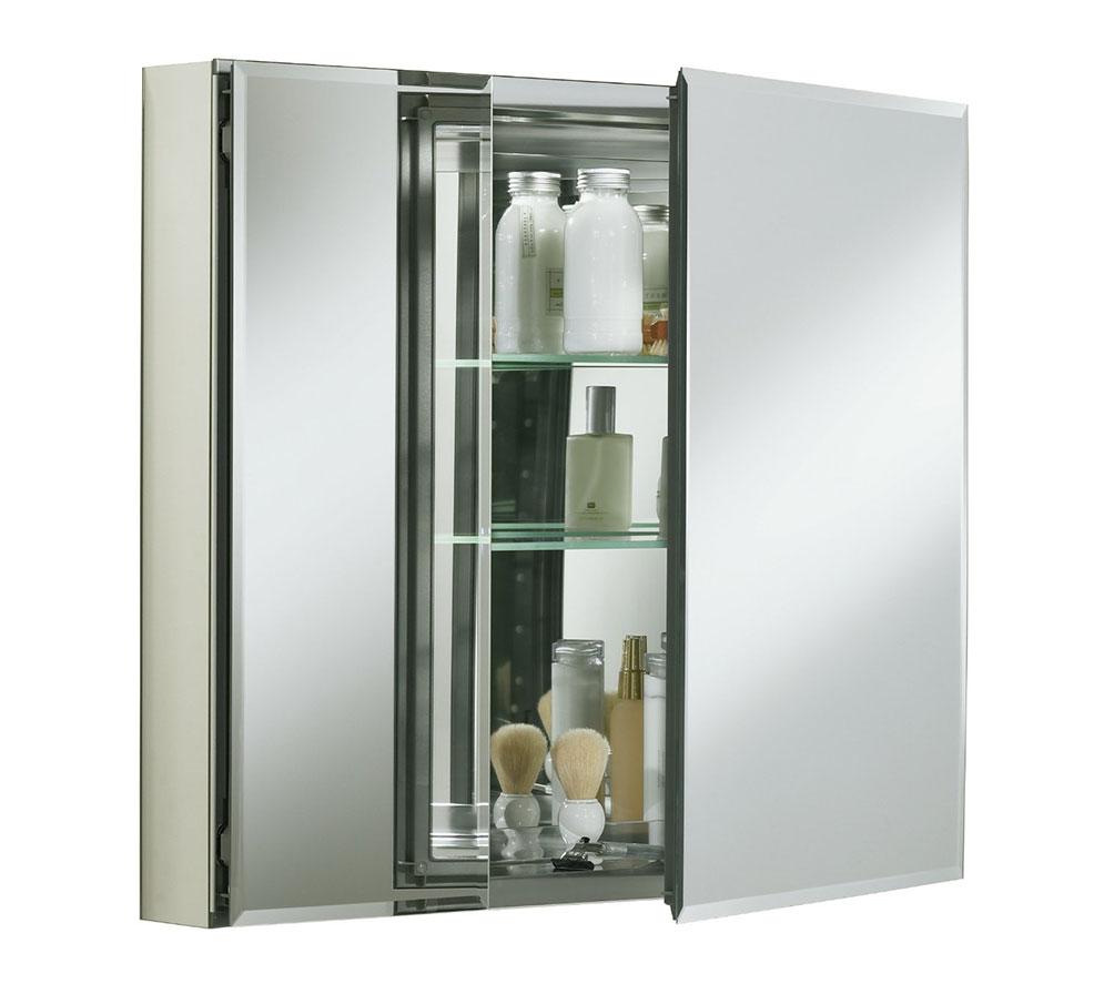 Double Door Aluminum Bathroom Storage Cabinet