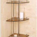 Corner Glass Bathroom Shelves Furniture