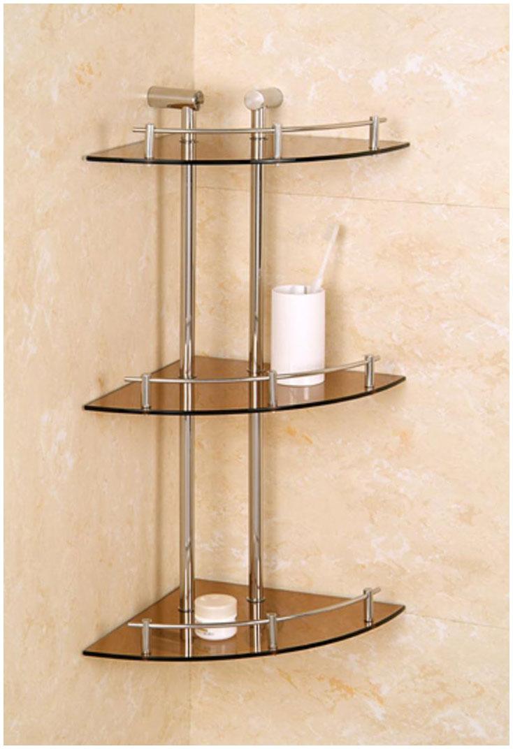 Corner Glass Bathroom Shelves Furniture