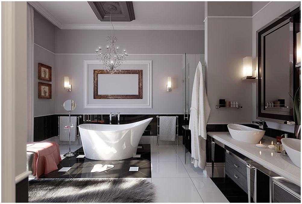 Home Decor Modern Bathroom Furniture Design Idea