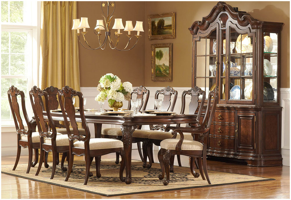 Home Decor Traditional Dining Room Furniture Design Ideas