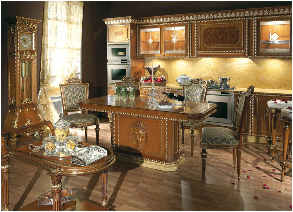 Home Decor Traditional Italian Kitchen Cabinet Furniture Design