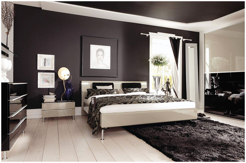 modern bedroom paint color ideas modern bedroom arrangement ideas with brown wall paint 19234