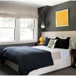 Modern Gray and Blue Bedroom Paint Color Design