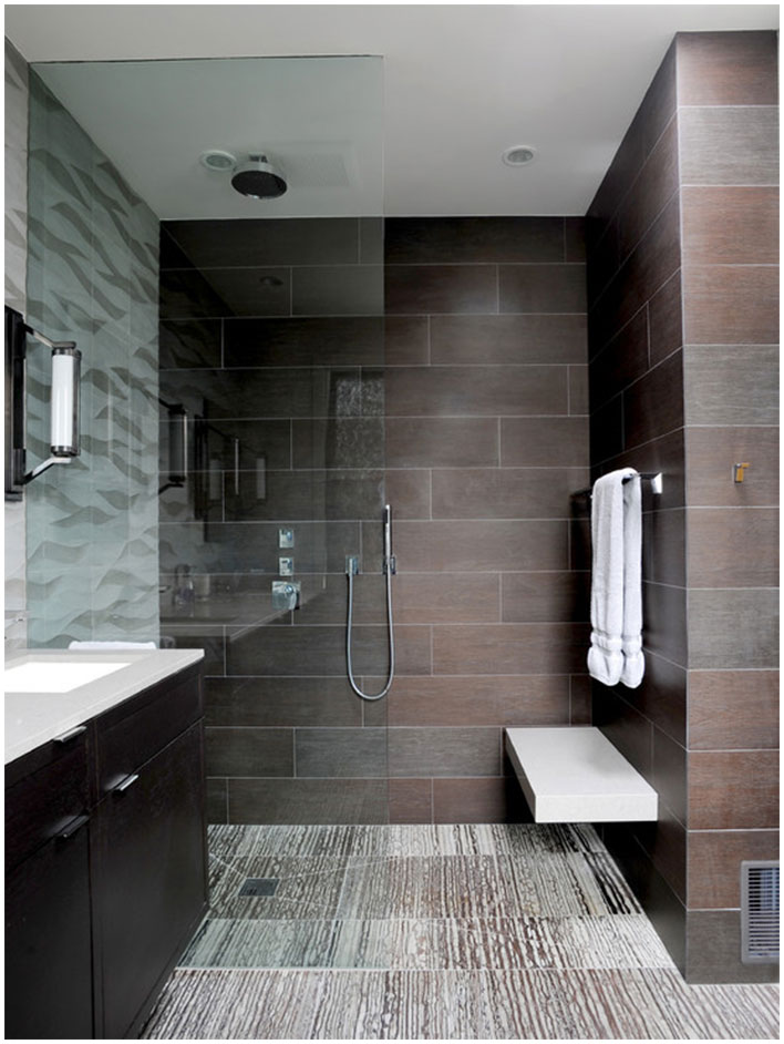Modern Perfect Bathroom With Glass Wall