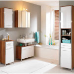 Modern Wooden Bathroom Storage Cabinet