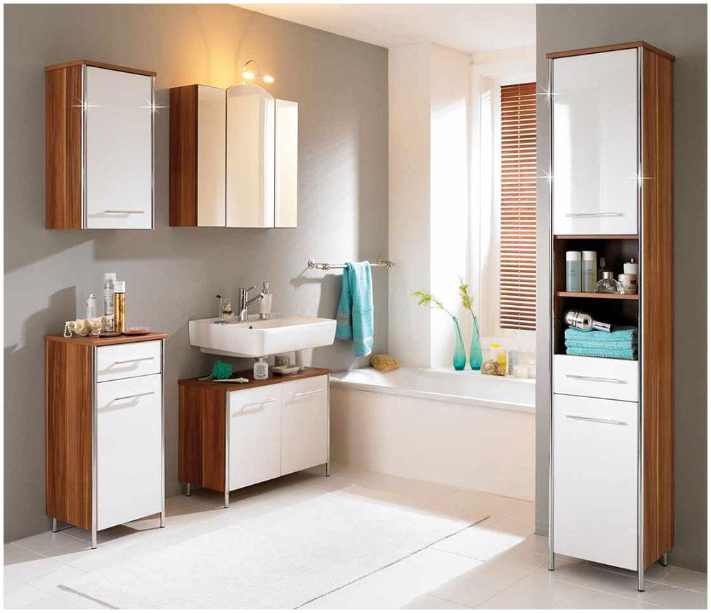 Modern Wooden Bathroom Storage Cabinet
