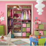 Organizing Room Tidy Ideas With Pink Wall