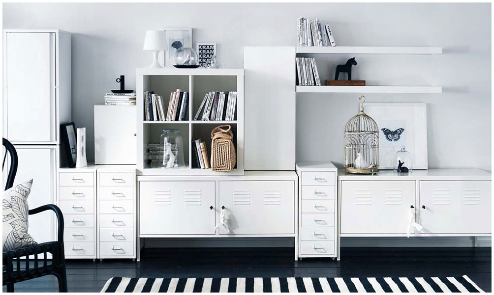 Organizing Room Tidy Ideas With White Wooden Cabinet