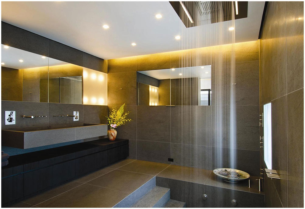 Perfect Bathroom Design with Unique Shower