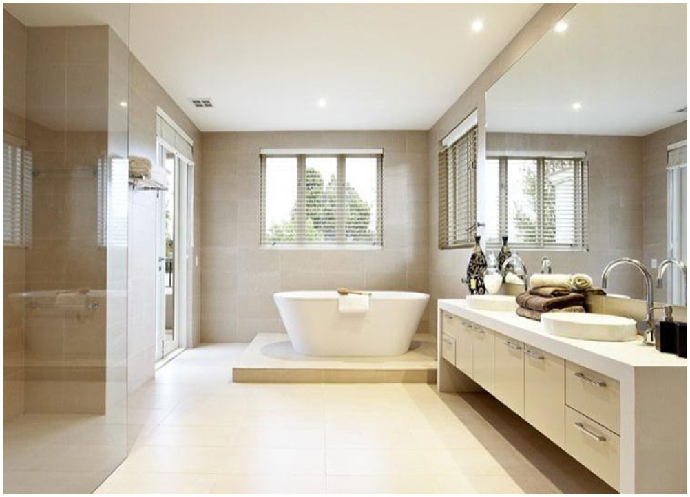 Perfect Bathroom With Large Tiles
