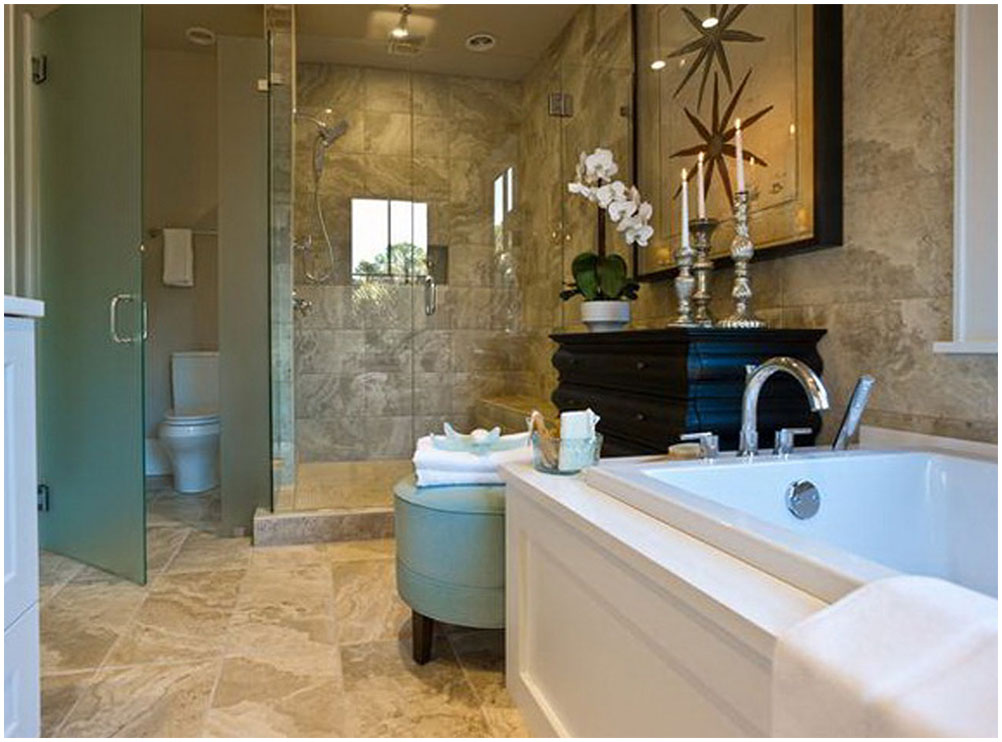 Perfect Master Bathroom Ideas With Porcelain Floor