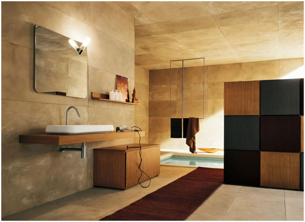 Perfect Modern Warm Bathroom Design