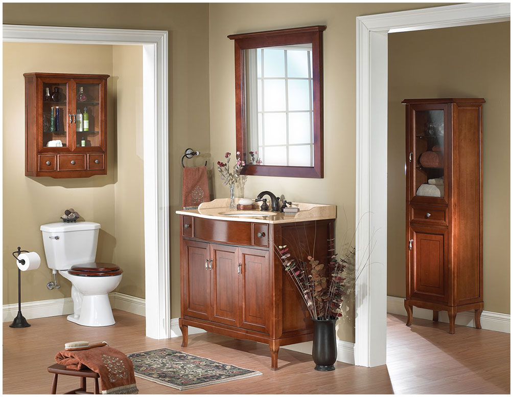 Traditional Wood Bathroom Cabinets and Furniture