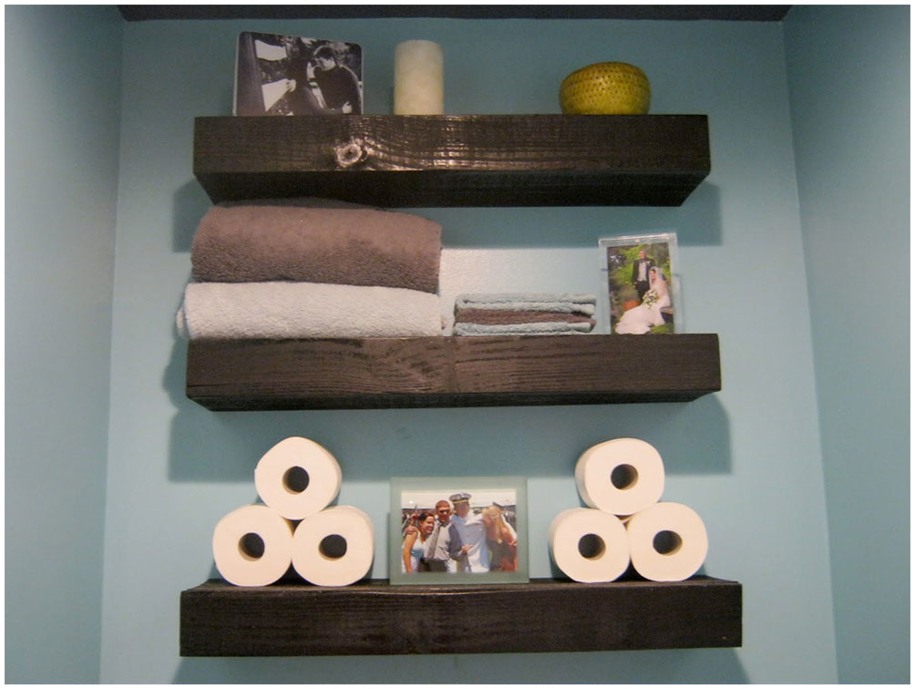 Wood Bathroom Floating Shelves Furniture