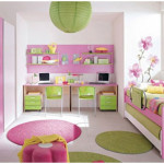 Lovely Bedroom Pink Decorating for Kids