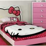 Lovely Teenager Girl Bedroom Design With Sweet Hello Kitty Theme Option