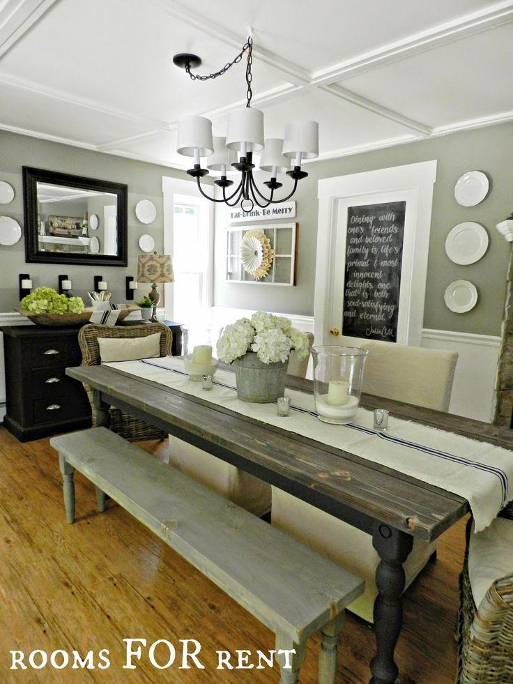 Rustic Dining Room Tables Ideas 50 Country Table Pinterest Farmhouse